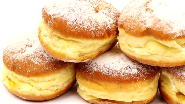 berliner - baked pastry item stock videos and b-roll footage