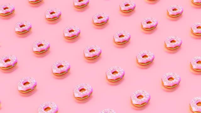 doughnuts loopable motion - pastel stock videos & royalty-free footage