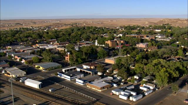 vídeos de stock e filmes b-roll de douglas-vista aérea-wyoming, converse county, estados unidos - wyoming