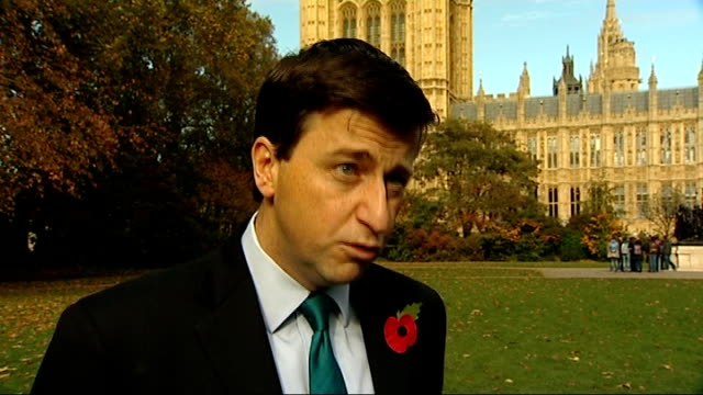douglas alexander mp interview sot - we've always been supportive of requirements being placed on people receiving benefits / what we did in... - douglas alexander stock videos & royalty-free footage