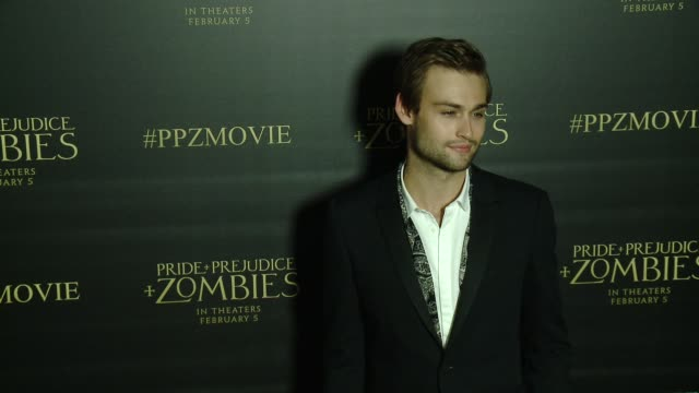 Douglas Booth at the 'Pride And Prejudice And Zombies' Los Angeles Premiere at Harmony Gold Theater on January 21 2016 in Los Angeles California