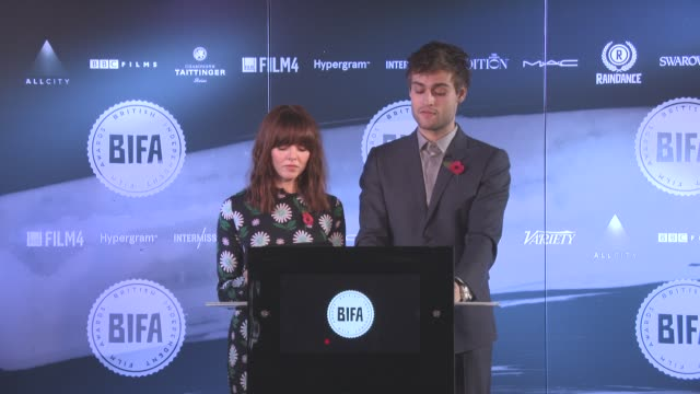 interview douglas booth ophelia lovibond announce best screen play best supporting actress best supporting actor best director best actor best... - best supporting actor stock videos & royalty-free footage