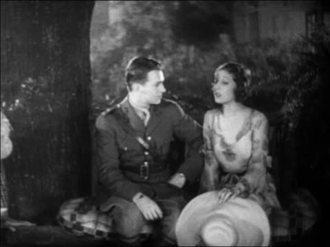 B/W 1931 Douglas Fairbanks, Jr. in uniform + Loretta Young talking / detective enters / feature