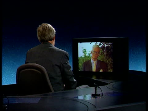Douglas Hurd interview on Sarajevo ITN Bonn CMS Douglas Hurd MP intvwd SOF Don't want to launch into operations that make situation worse / Only way...