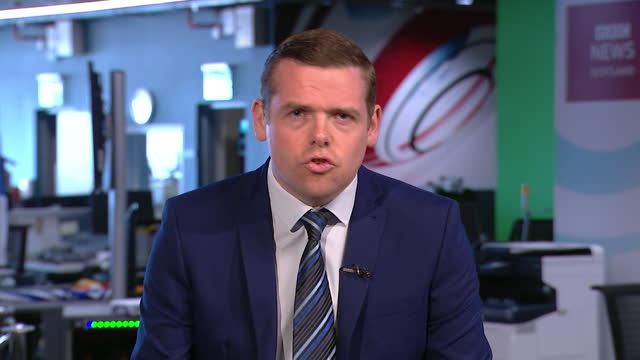 "douglas ross saying anti-scottish independence voters should ""unite behind the scottish conservatives"" - conservative party uk stock videos & royalty-free footage"