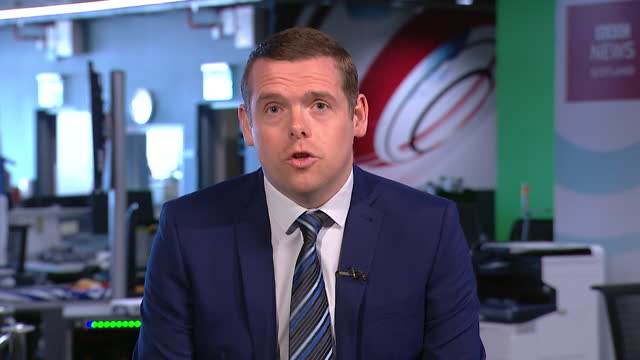 douglas ross saying brexit has helped with vaccine rollout success in scotland and the rest of the uk - conservative party uk stock videos & royalty-free footage
