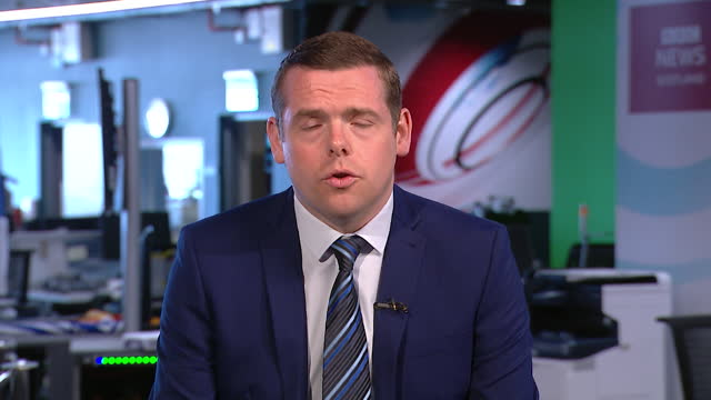 "douglas ross saying there have been ""serious challenges"" for scottish fishermen since brexit - conservative party uk stock videos & royalty-free footage"