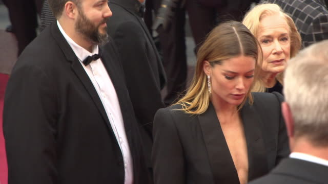 doutzen kroes at 'solo a star wars story' red carpet arrivals the 71st annual cannes film festival on may 15 2018 in cannes france - 71st international cannes film festival stock videos & royalty-free footage