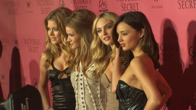 doutzen kroes rosie huntingtonwhiteley candice swanepoel and miranda kerr at the 5th annual 'what is sexy' list bombshell edition at hollywood ca - miranda kerr stock videos and b-roll footage