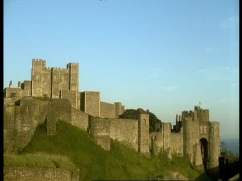 dover castle, kent - wa - circa 12th century stock videos & royalty-free footage