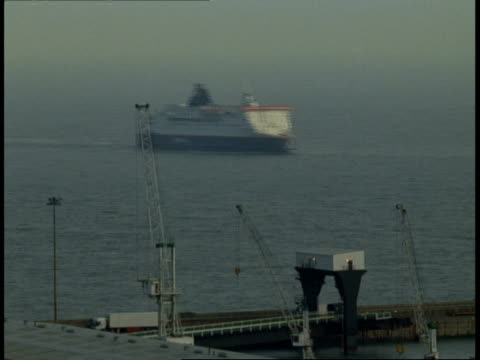 T/L Dover Docks - car ferry sails past dock