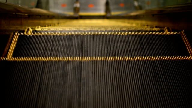 Down escalator.