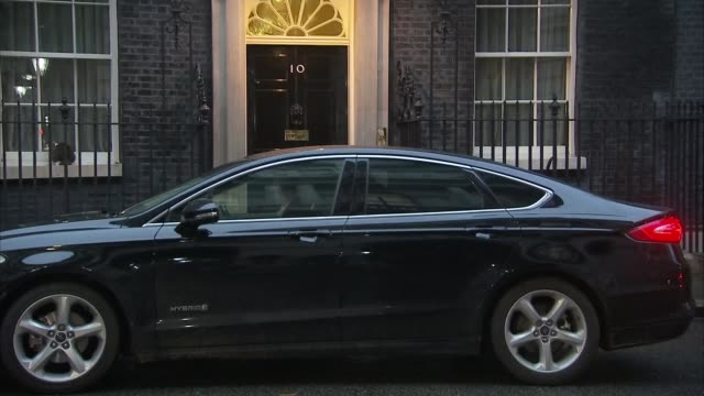 Downing Street arrivals and departures ENGLAND London Downing Street EXT Greg Clark MP along / David Davis MP along / Liam Fox MP / Michael Gove MP...