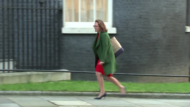 downing street arrivals and departures england london downing street ext karen bradley mp along arriving at no 10 / amber rudd mp / greg clark mp /... - damian hinds stock videos and b-roll footage