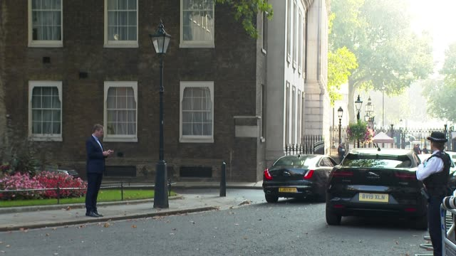 downing street cabinet arrivals; england: london: westminster: downing street: ext mark spencer mp departing number 10 and crossing to the foreign... - ben wallace stock videos & royalty-free footage