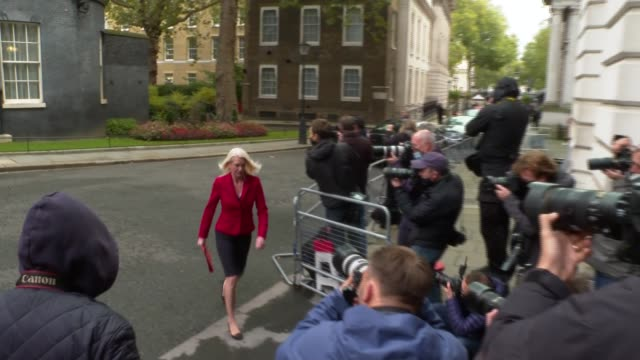 downing street cabinet arrivals; england: london: westminster: downing street: ext mark spencer arriving, speaking to press and entering number 10 /... - ben wallace stock videos & royalty-free footage