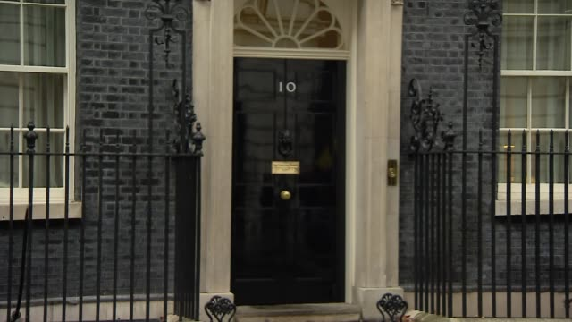 downing street cabinet departures england london downing street david gauke mp away / damian hinds mp away / stephen barclay mp away / geoffrey cox... - damian hinds stock videos and b-roll footage