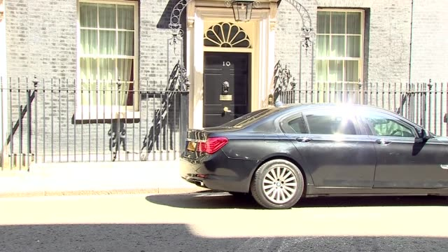 downing street cabinet departures england london downing street ext chris grayling mp leaving no 10 / natalie evans leaving followed by andrea... - damian hinds stock videos and b-roll footage