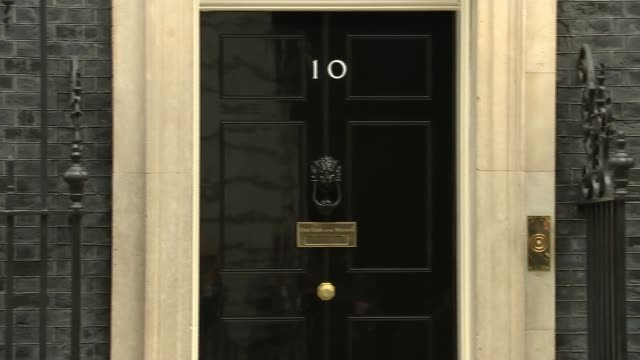 downing street cabinet departures england london downing street ext andrea leadsom mp and natalie evans from 10 downing street / karen bradley mp and... - priti patel stock-videos und b-roll-filmmaterial