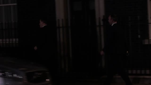downing street chief of staff gavin barwell and chief whip julian smith leave downing street after theresa may's crushing brexit vote defeat in the... - defeat stock videos & royalty-free footage