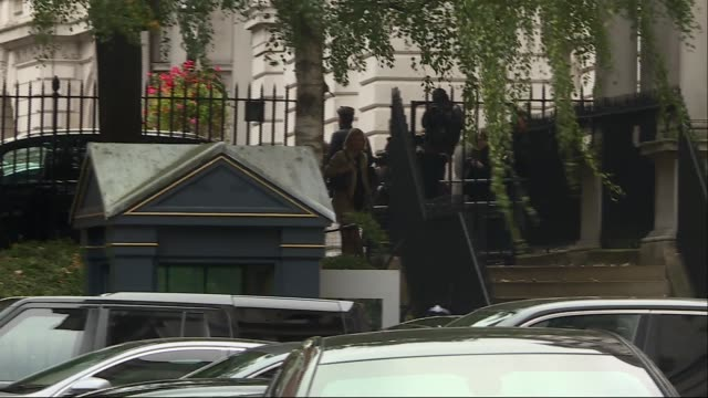 Downing Street departures from Horse Guards Road ENGLAND London Horse Guards Road EXT Boris Johnson MP and Liam Fox MP / Justine Greening MP / Amber...