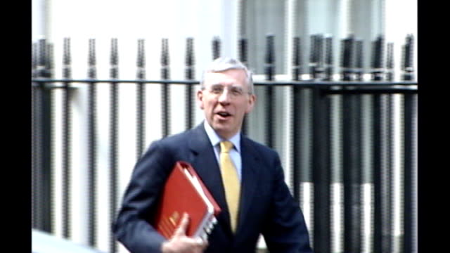 ext jack straw mp along as speaks to reporters - jack straw stock videos and b-roll footage