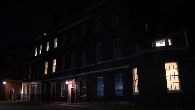 london downing street gvs number ten downing street - downing street stock-videos und b-roll-filmmaterial