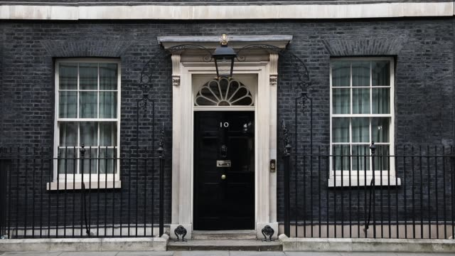 10 downing street is seen on march 13 2017 in london england article 50 will be triggered on march 29 and the process that will take britain out of... - 10 downing street stock videos and b-roll footage