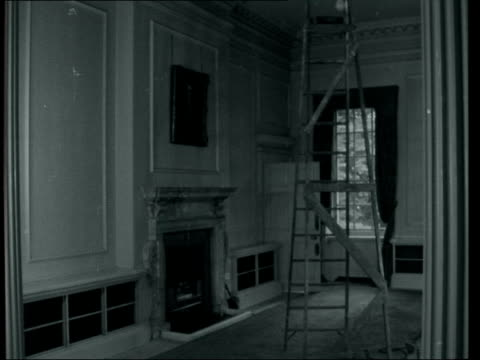 10 downing street receives vital repair work interiors before restoration london 10 downing street door of no10 opens to show hall int ms interior... - looking up stock videos & royalty-free footage