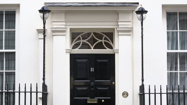 11 downing street the official residence of george osborne uk chancellor of the exchequer in london uk on thursday march 12 2015 - minister clergy stock videos and b-roll footage