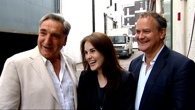 downton abbey nominated for 16 emmy awards jim carter interview sot on the competition never seen 'mad men' - emmy awards stock-videos und b-roll-filmmaterial