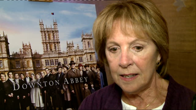 Downton Abbey Series 5 interviews Daisy Lewis chatting to press / Brendan Coyle chatting to press Penelope Wilton interview SOT Brendan Coyle...