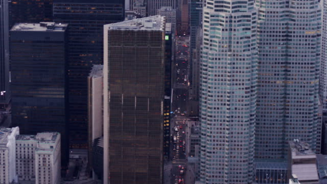 downtown aerial view - office block exterior stock videos & royalty-free footage