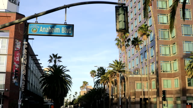 downtown anaheim - anaheim california stock videos & royalty-free footage