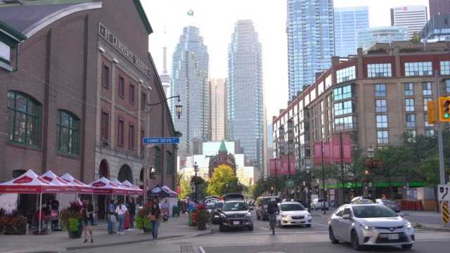downtown area in the city of toronto, ontario, canada - financial district stock videos & royalty-free footage