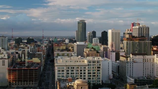 Downtown LA at Sunrise - Aerial