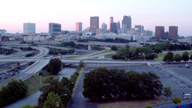 Downtown Atlanta and Busy Freeways