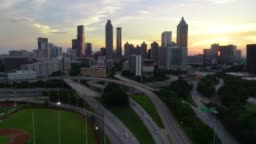 Downtown Atlanta Georgia GA Skyline Aerial