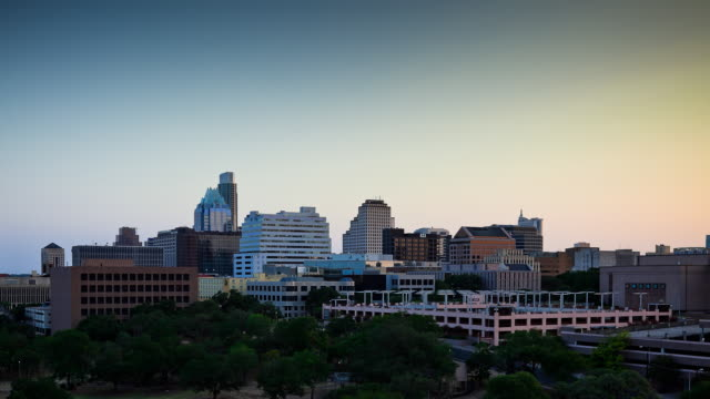 Downtown Austin Day to Night Timelapse