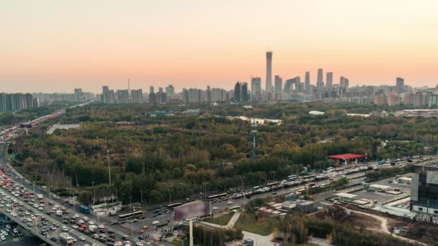 T/L PAN Downtown Beijing at Sunset/ Beijing, China