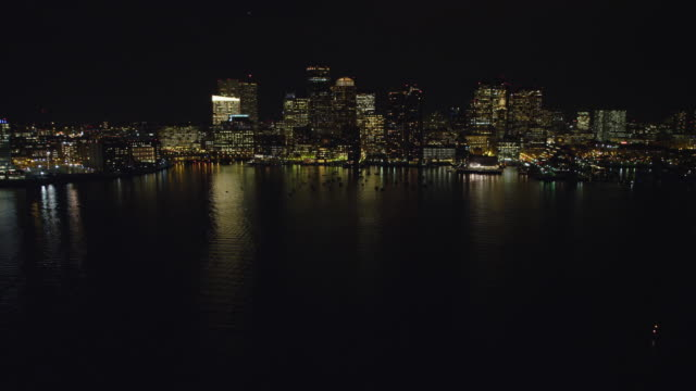 Downtown Boston at night from the Charles River. Shot in 2011.