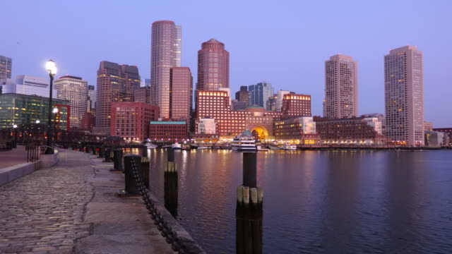 downtown boston massachusetts skyline - boston massachusetts stock videos & royalty-free footage