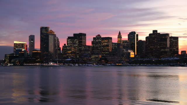 downtown boston skyline - custom house tower stock videos & royalty-free footage