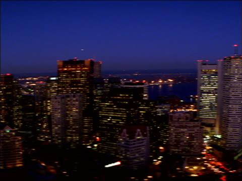 stockvideo's en b-roll-footage met downtown boston skyscrapers tower near massachusetts bay. - noord atlantische oceaan