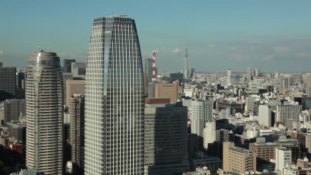 ws downtown buildings / tokyo, japan - 固定撮影点の映像素材/bロール