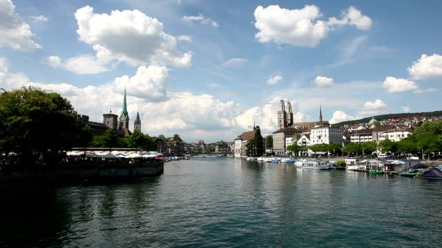 Downtown center and Limmat River, Zurich