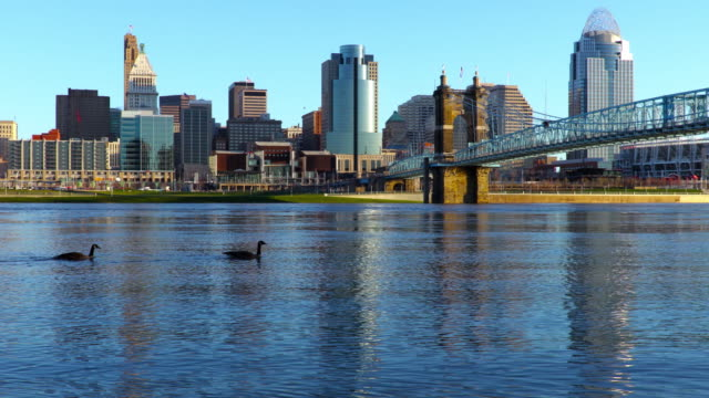 Downtown Cincinnati skyline along the Ohio River
