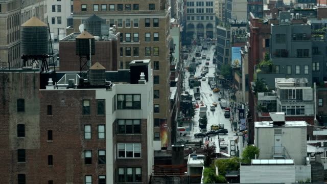 downtown city scene - greenwich village stock videos & royalty-free footage