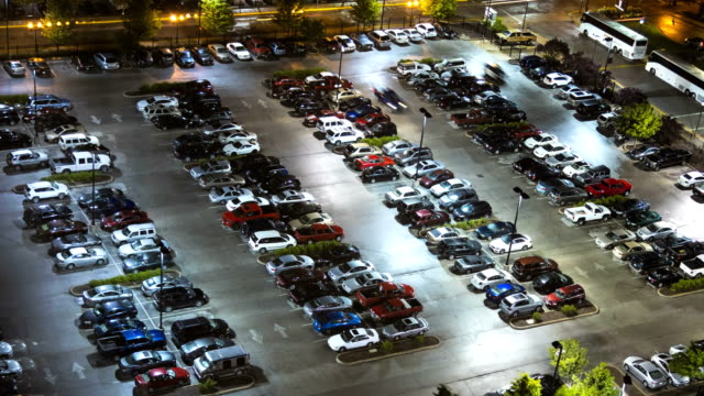 downtown city transport parking lot chicago illinois usa - car park stock videos & royalty-free footage