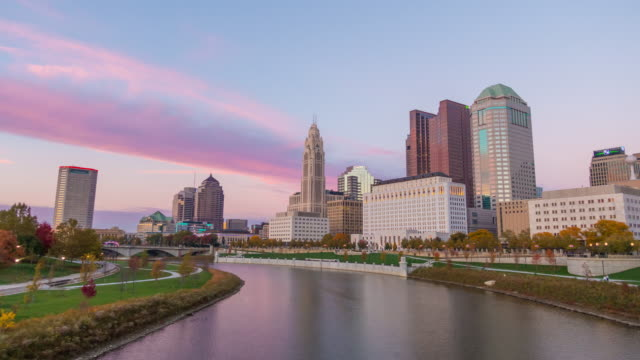 downtown columbus ohio skyline - ohio stock videos & royalty-free footage